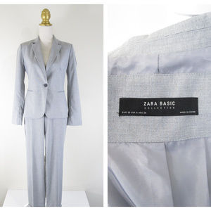 Zara Basic Collection Gray Pant Suit Formal Career